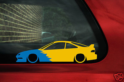 Acura Type on Honda   Acura Integra Dc2 Spoon Type R Silhouette   Outline Sticker
